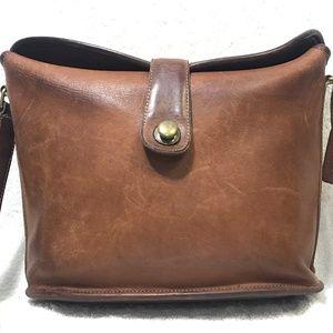 Rare Vintage Coach Saddle Shoulder Crossbody Bag